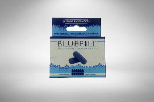 Blue pill box