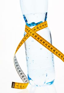 water bottle with tape measure, water retention