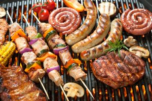 different kinds of grilled meat