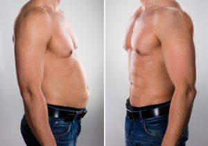 comparison of man's body image