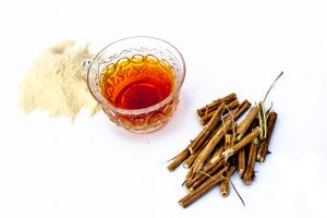 Ashwagandha powder and tea natural ingredients