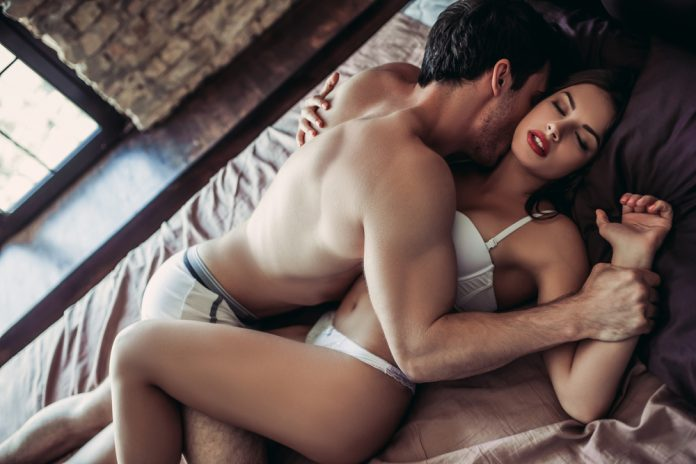 couple getting intimate in bed better with Progentra