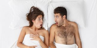 Shocked Couple in the bed