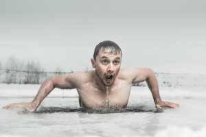 winter ice bath