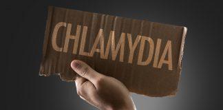 chlamydia on cardboard sign
