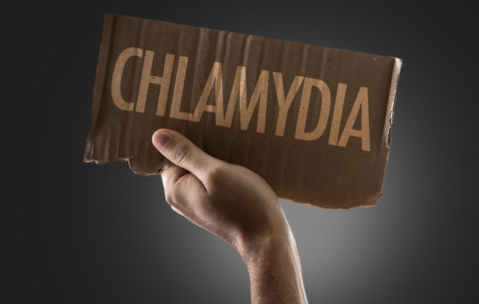 chlamydia on cardboard sign
