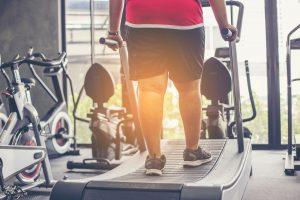 fat man on treadmill